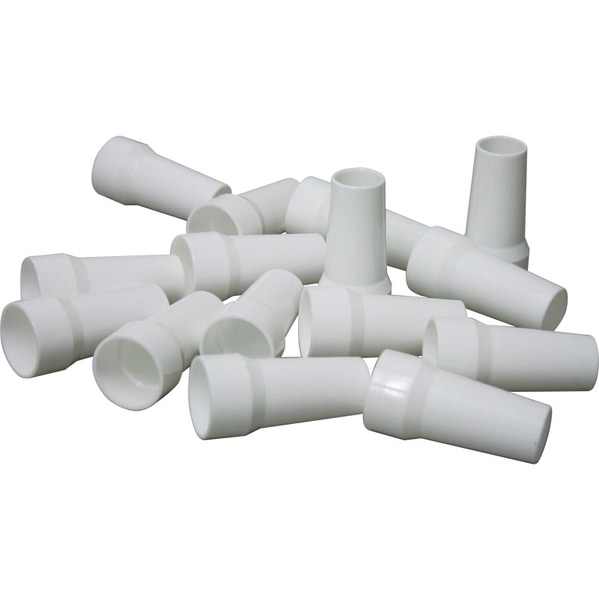 Plastic Disposable Mouthpieces for Peak Flow Meter (Pk 15)