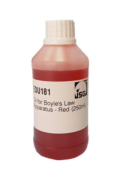 Oil for Boyle's Law Apparatus - Red (250ml)