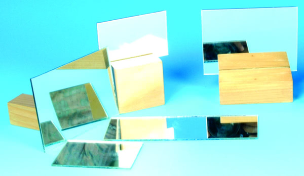 Mirror, Plane Glass, Unmounted 50x50mm (Pk10)