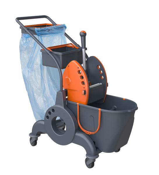 Mopping Trolleys Giotto - 15 L + 10 L Low Noise