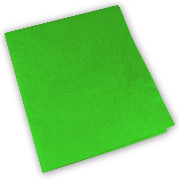 Micro Lux ultra microfibre cloth in polyester/polyamide TNT Green (Pack of 50)