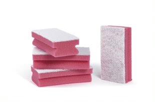 Bi-Coloured Red Sponge (Pack of 100)