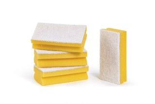 Bi-Coloured Yellow Sponge (Pack of 100)