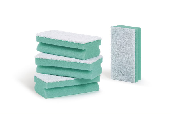 Bi-Coloured Green Sponge (Pack of 100)