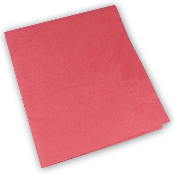 Micro Lux ultra microfibre cloth in polyester/polyamide TNT Red (Pack of 50)