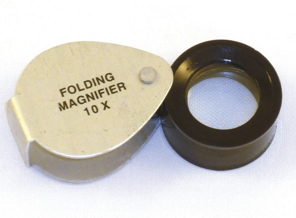 Magnifier, Folding 18-20 dia 10Xmag (Gowling)