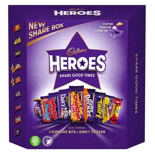 Cadbury Heroes Chocolate Gift Carton 385 g