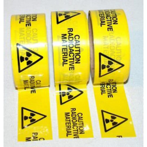 Safety Warning Tape: Danger Radioactive Material
