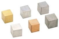 Metal Density Cubes -  20mm Side (Set 6)