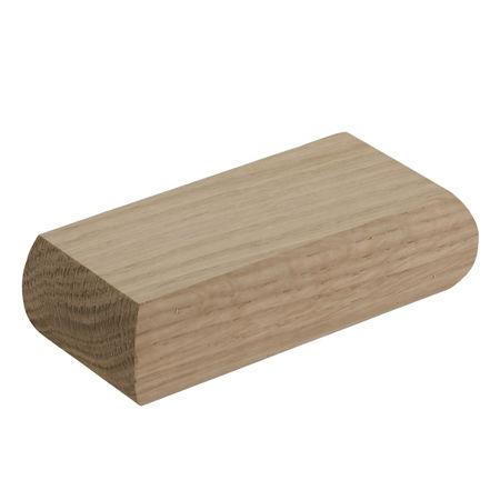 Oak Half Minimal Newel Cap
