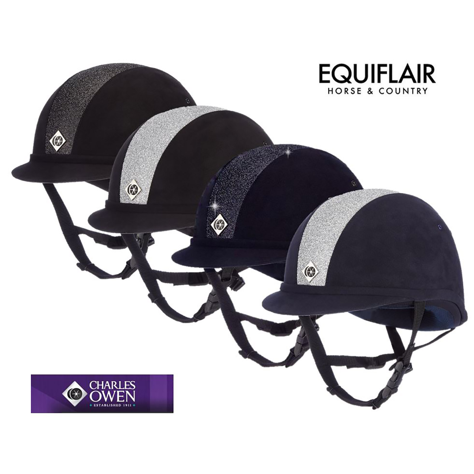 Charles-Owen-YR8-Sparkly-Riding-Helmet-Hat-PAS015-2011-VG1 miniature 4