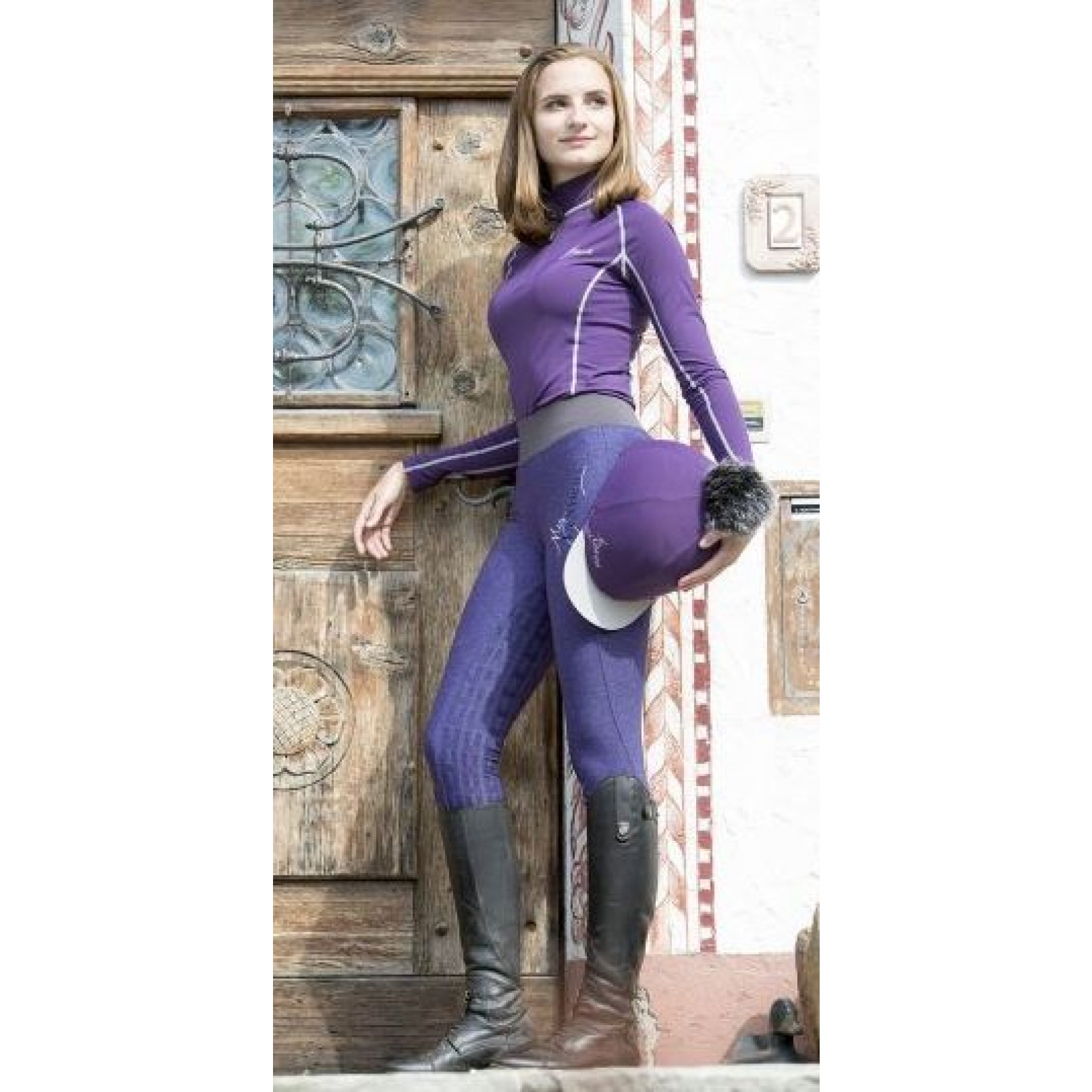 My-LeMieux-Pull-On-Breeches-Riding-Tights miniature 3