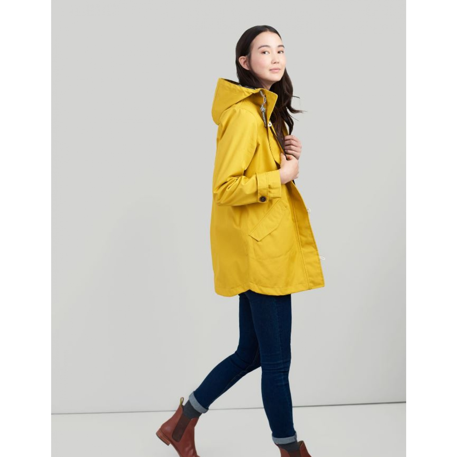 Joules-Coast-Mid-Waterproof-Hooded-Rain-Jacket-MORE-COLOURS miniature 4