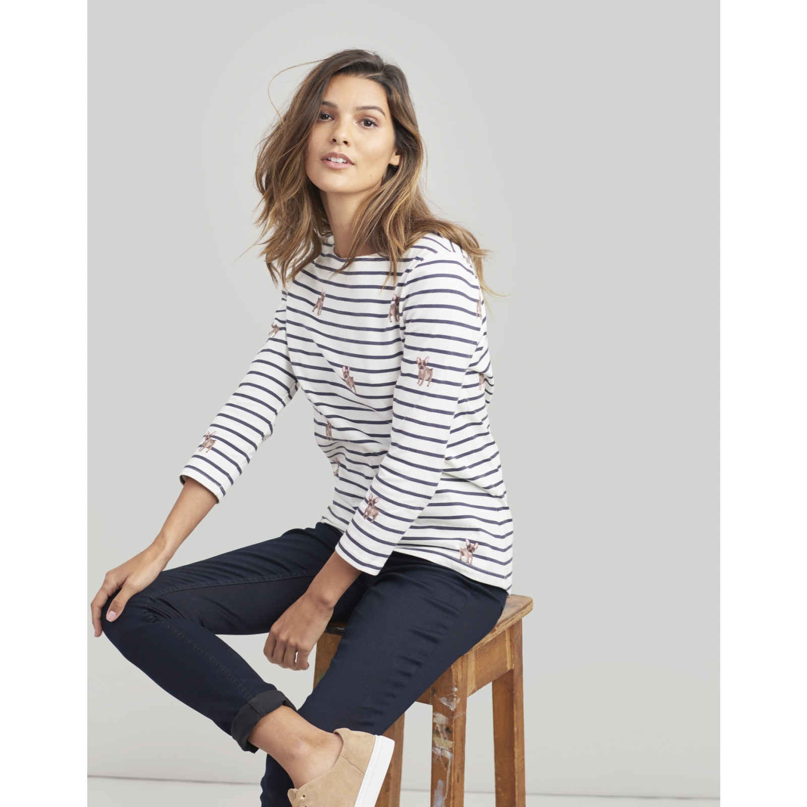 Joules-Harbour-Printed-3-4-Sleeve-Jersey-Top-SS19 thumbnail 11