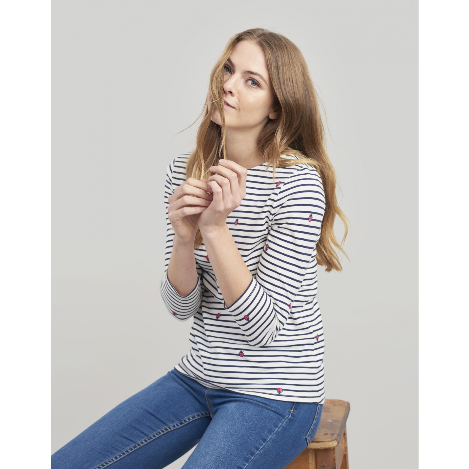 Joules-Harbour-Printed-3-4-Sleeve-Jersey-Top-SS19 thumbnail 27