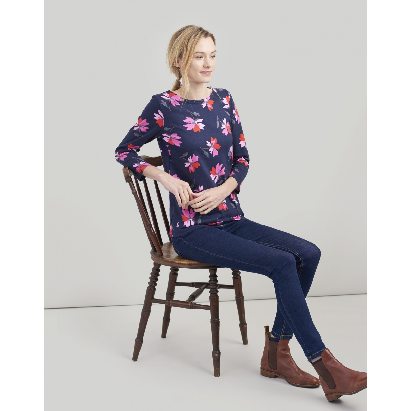 Joules-Harbour-Printed-3-4-Sleeve-Jersey-Top-SS19 thumbnail 69