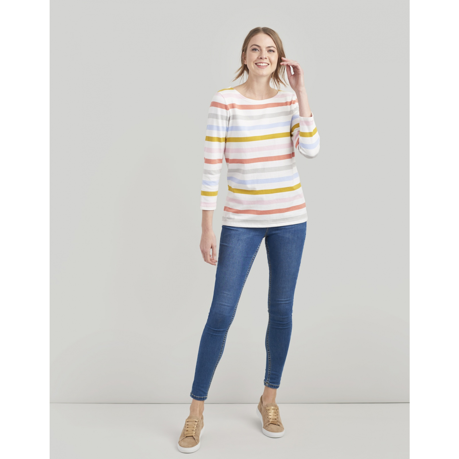 Joules-Harbour-Jersey-3-4-Sleeve-Top-SS19 thumbnail 23