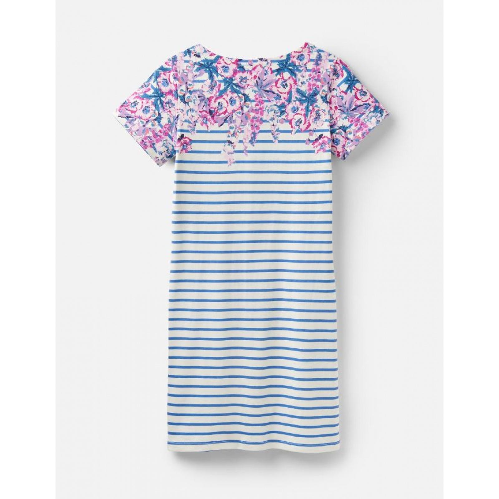 Joules-Riviera-Print-T-Shirt-Dress-with-Short-Sleeves-SS19 thumbnail 4