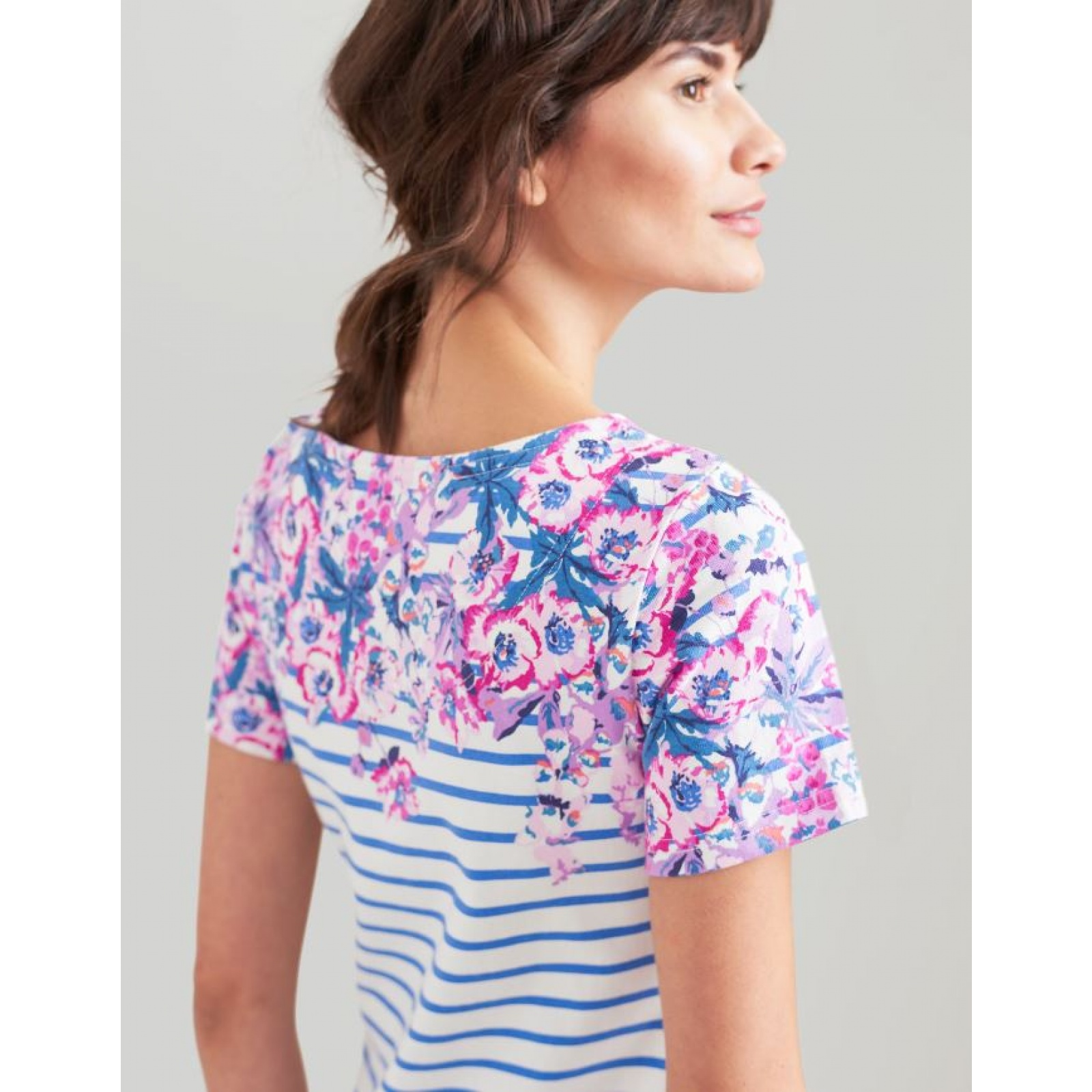 Joules-Riviera-Print-T-Shirt-Dress-with-Short-Sleeves-SS19 thumbnail 6