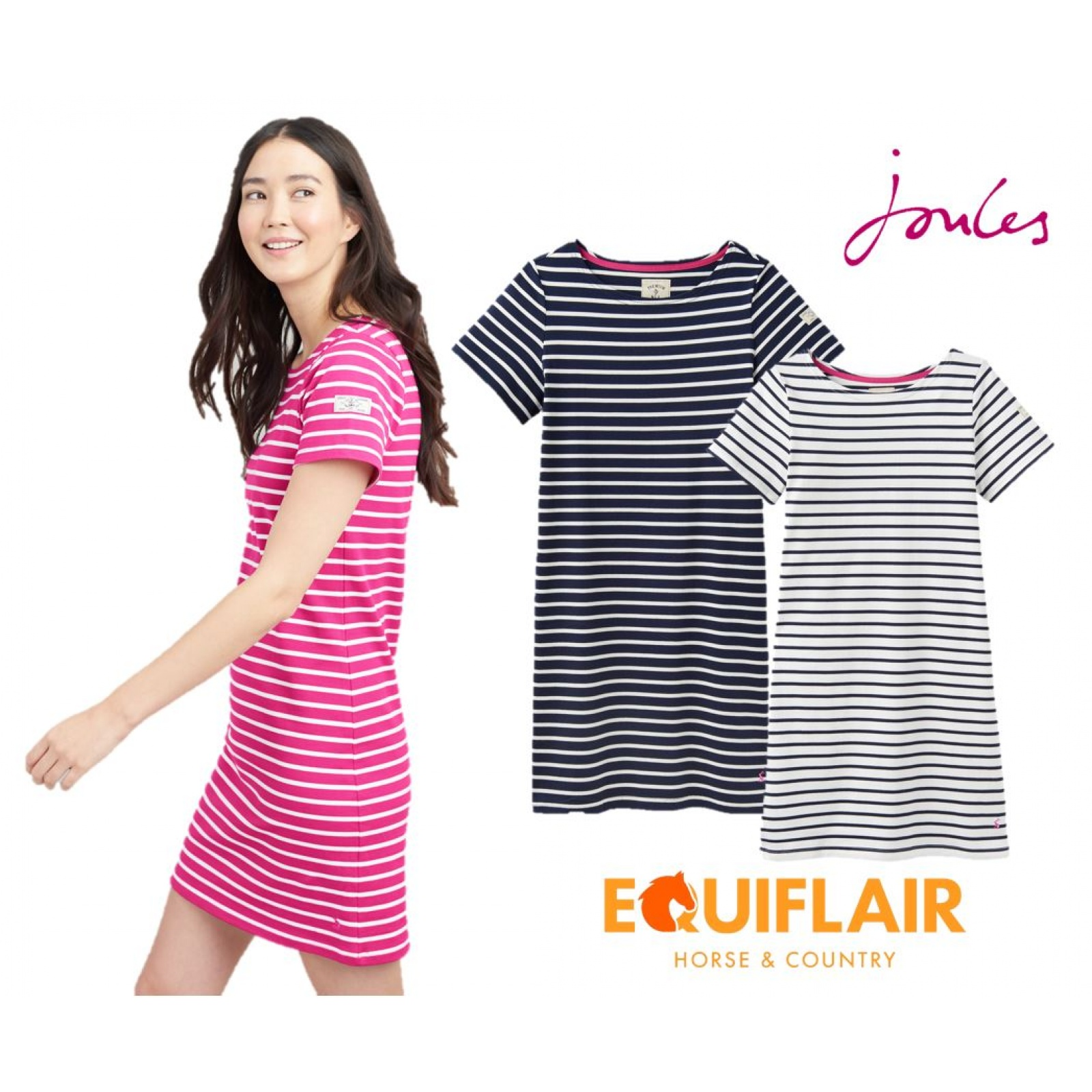 Joules-Riviera-T-Shirt-Dress-with-Short-Sleeves-SS19 miniature 9