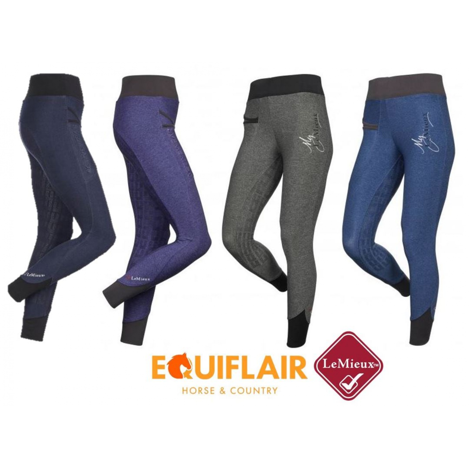 My-LeMieux-Pull-On-Breeches-Riding-Tights miniature 5