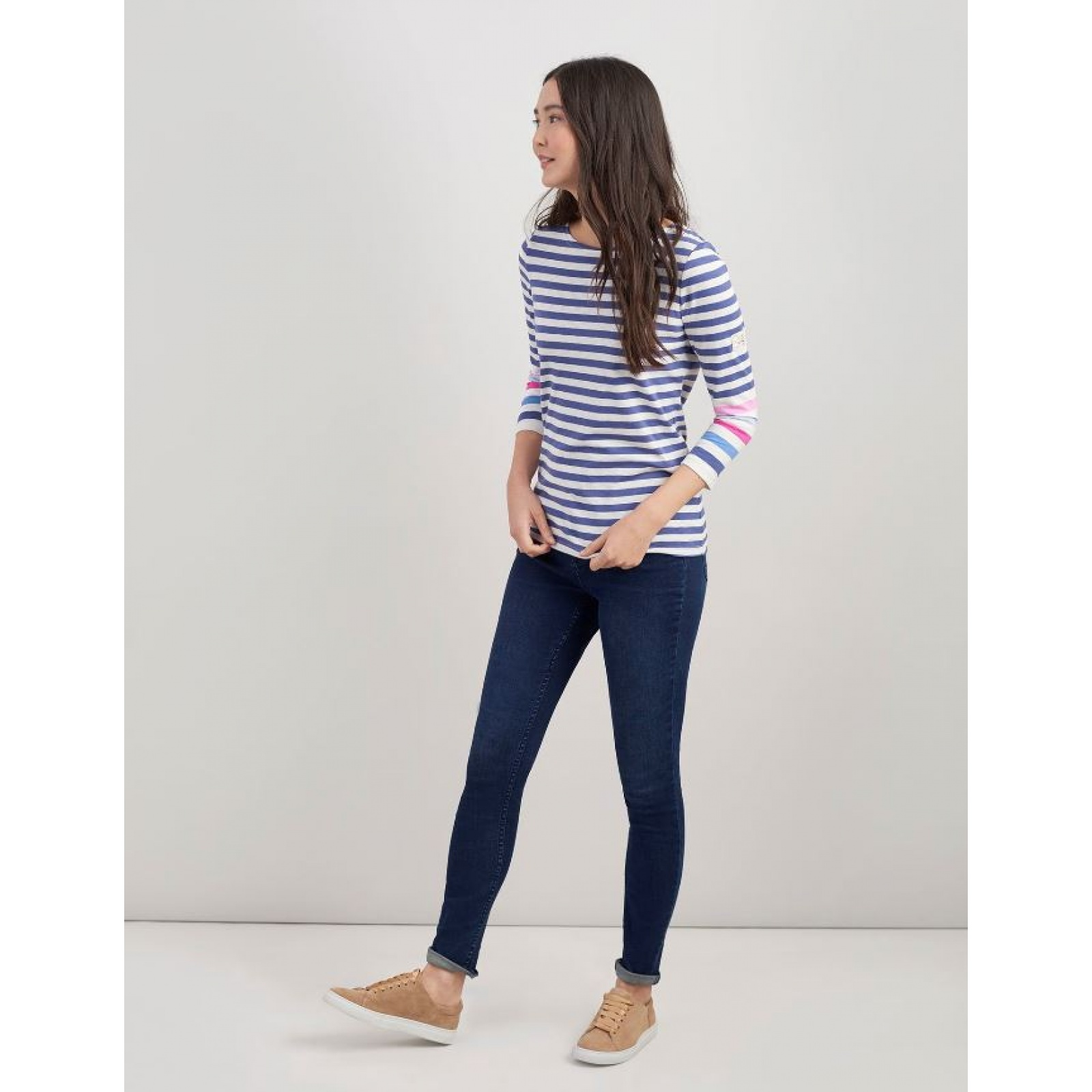 Joules-Harbour-Jersey-3-4-Sleeve-Top-SS19 thumbnail 11