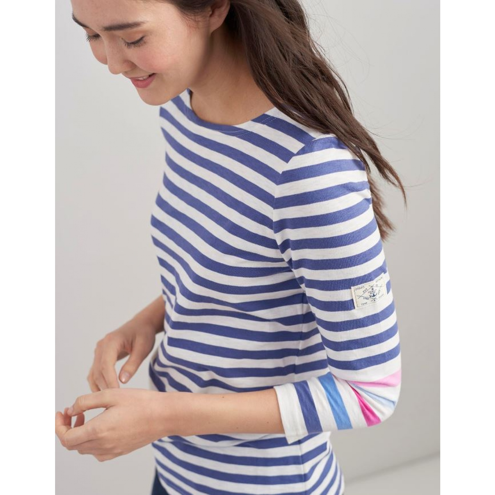 Joules-Harbour-Jersey-3-4-Sleeve-Top-SS19 thumbnail 13