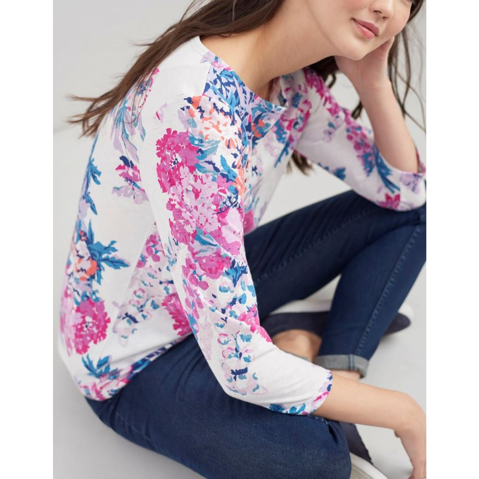 Joules-Harbour-Printed-3-4-Sleeve-Jersey-Top-SS19 thumbnail 17