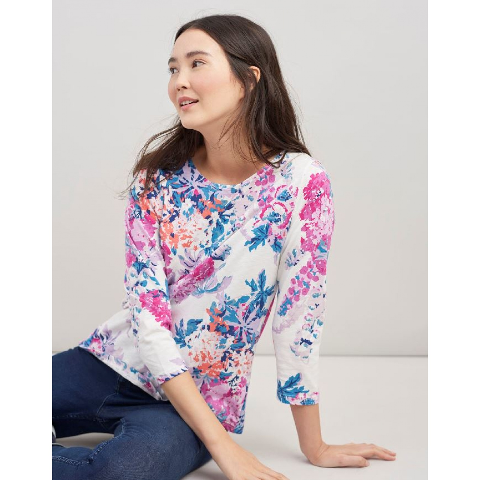 Joules-Harbour-Printed-3-4-Sleeve-Jersey-Top-SS19 thumbnail 19