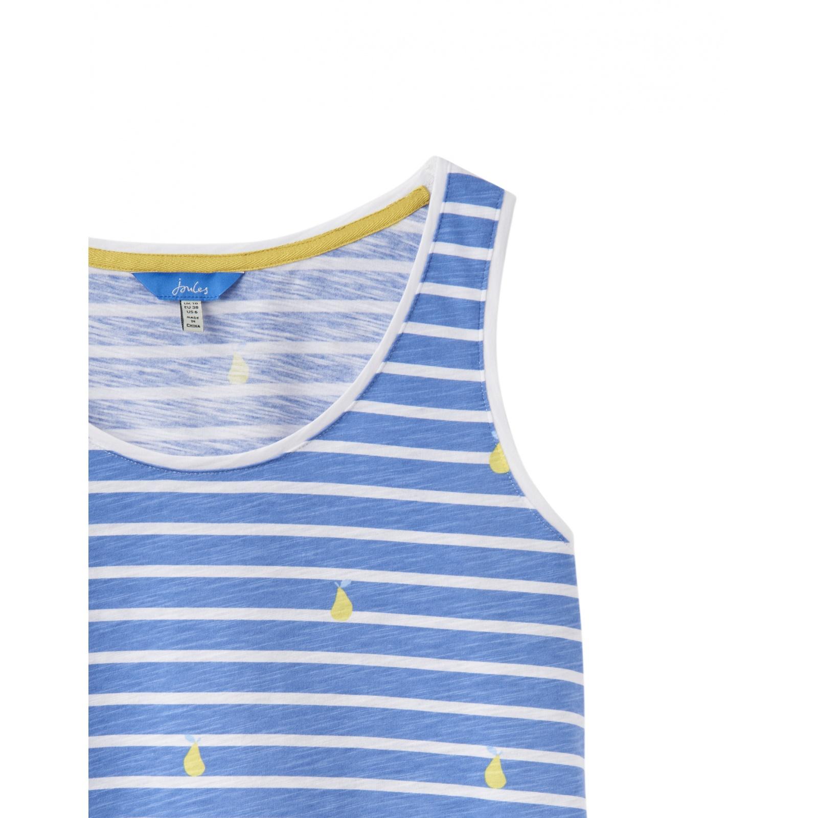 Joules-Bo-impresion-100-Algodon-Jersey-Chaleco-Top-Todos-Los-Colores miniatura 7