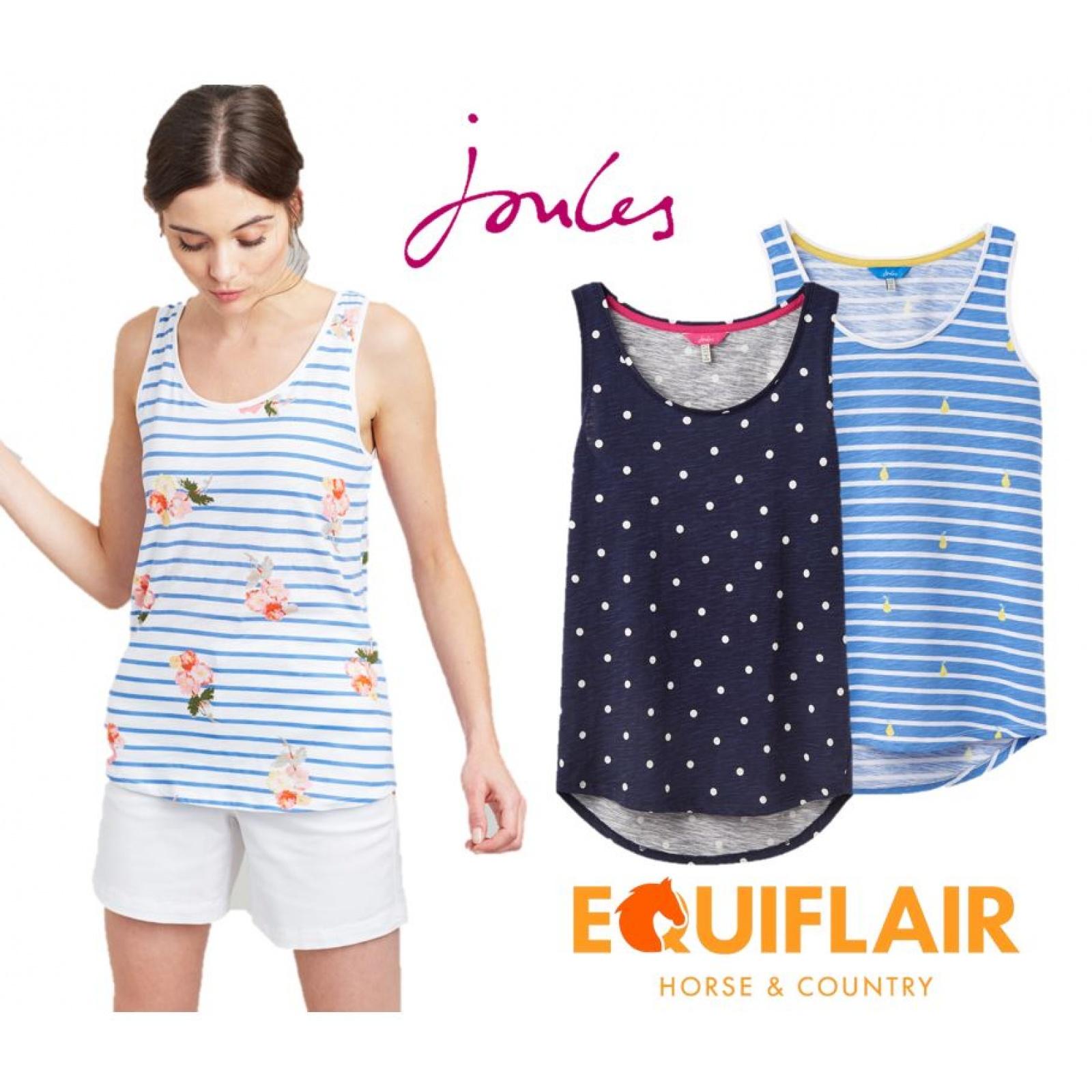Joules-Bo-impresion-100-Algodon-Jersey-Chaleco-Top-Todos-Los-Colores miniatura 8