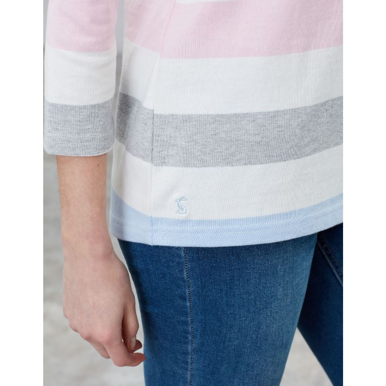 Joules-Harbour-Jersey-3-4-Sleeve-Top-SS19 thumbnail 5