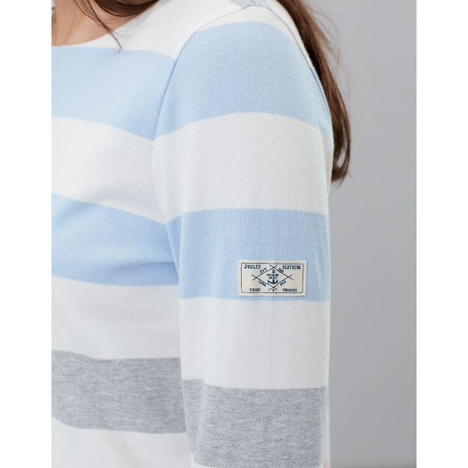Joules-Harbour-Jersey-3-4-Sleeve-Top-SS19 thumbnail 6
