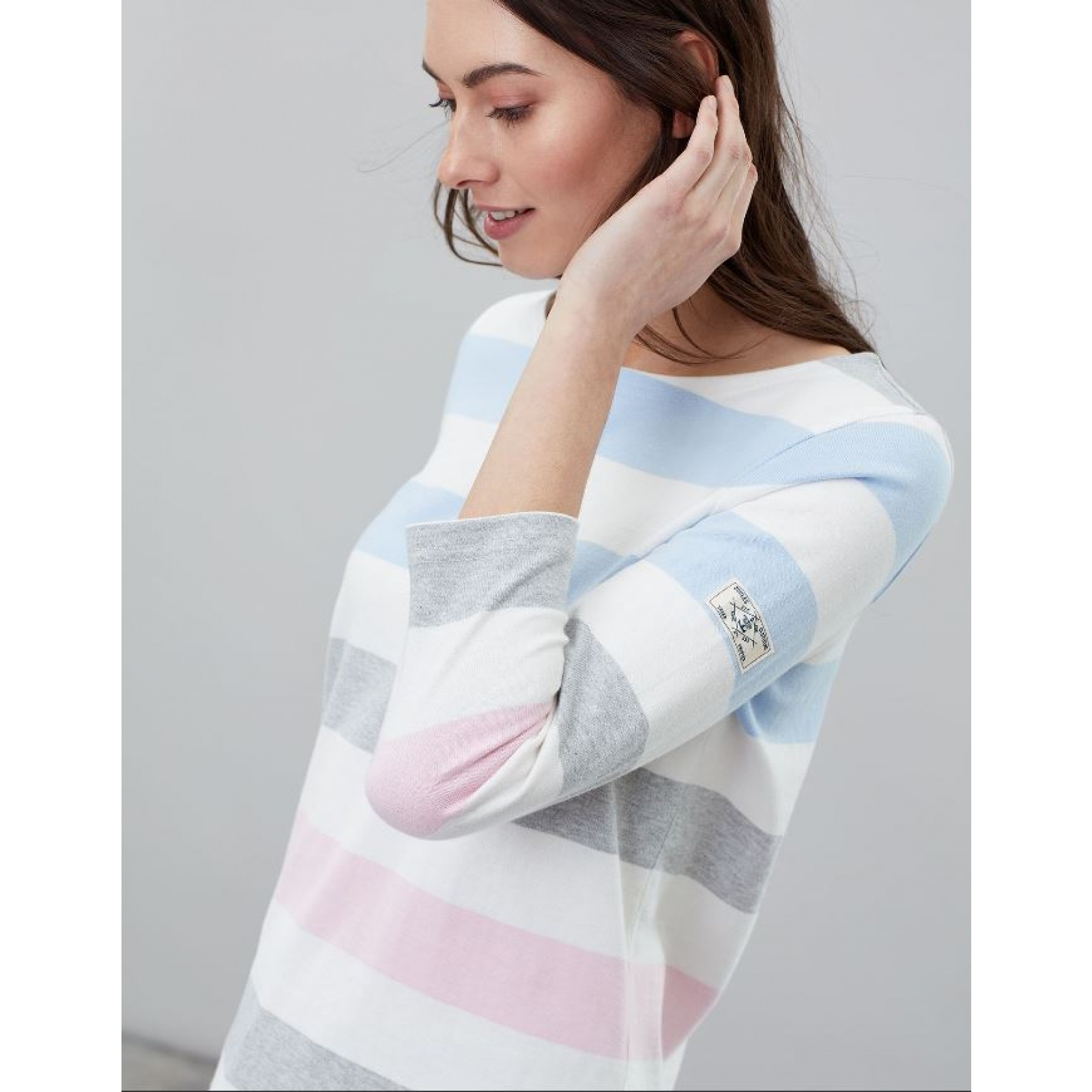 Joules-Harbour-Jersey-3-4-Sleeve-Top-SS19 thumbnail 7
