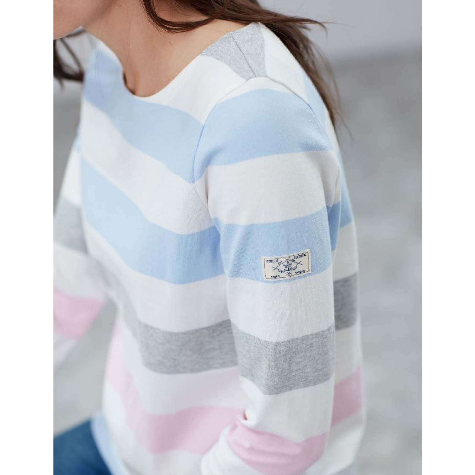 Joules-Harbour-Jersey-3-4-Sleeve-Top-SS19 thumbnail 8
