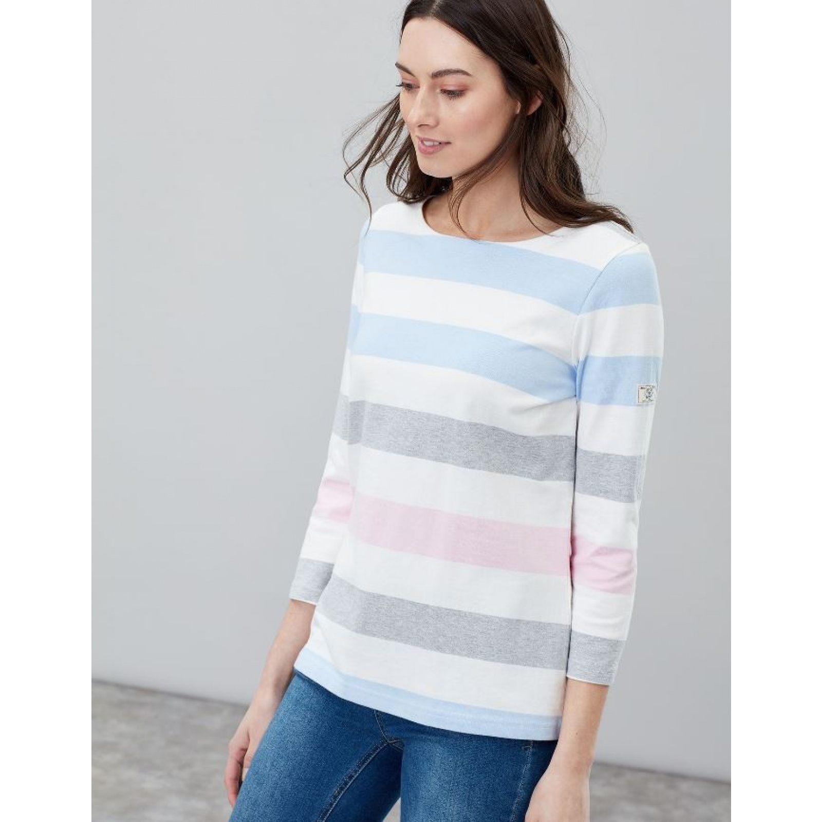 Joules-Harbour-Jersey-3-4-Sleeve-Top-SS19 thumbnail 4