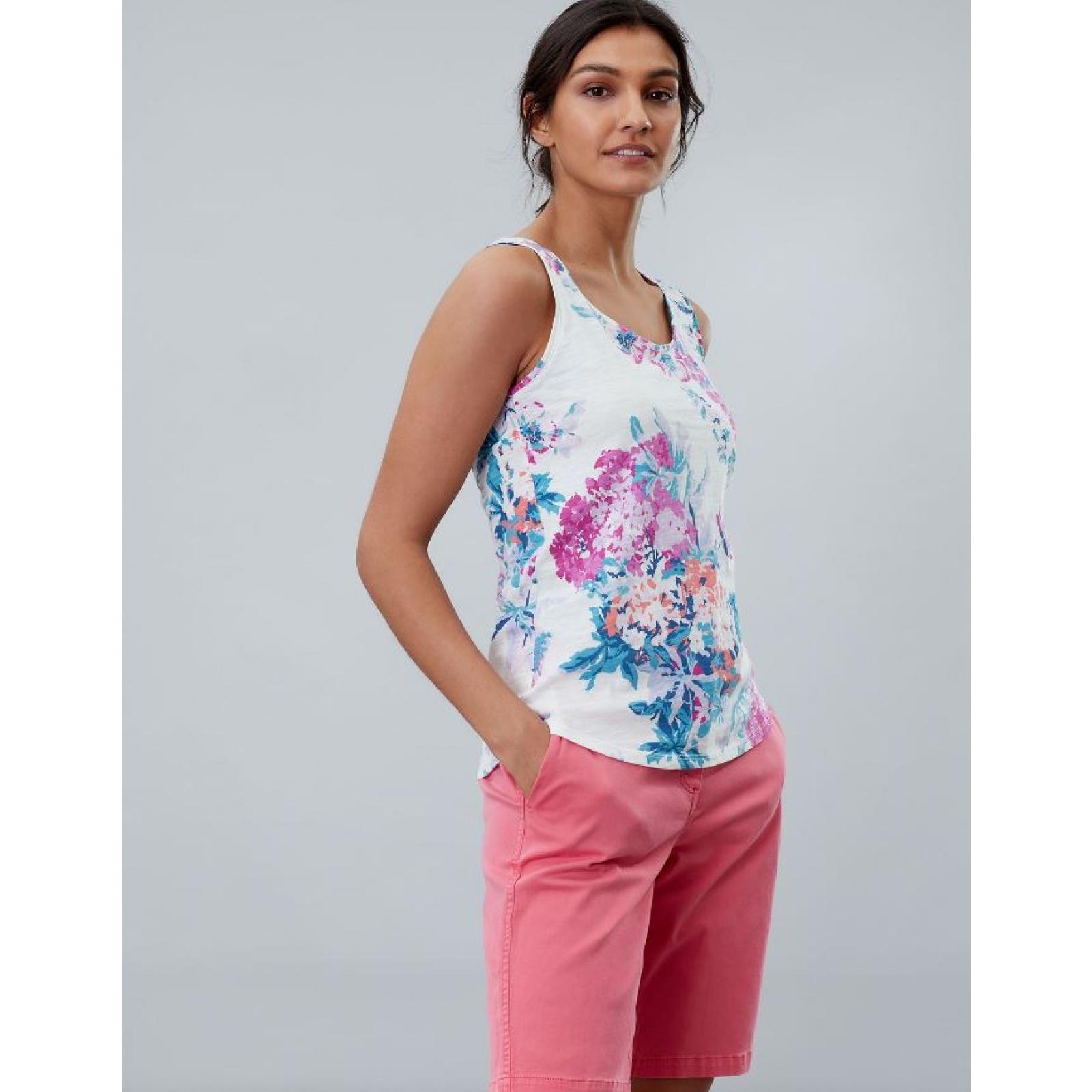 Joules-Bo-impresion-100-Algodon-Jersey-Chaleco-Top-Todos-Los-Colores miniatura 23