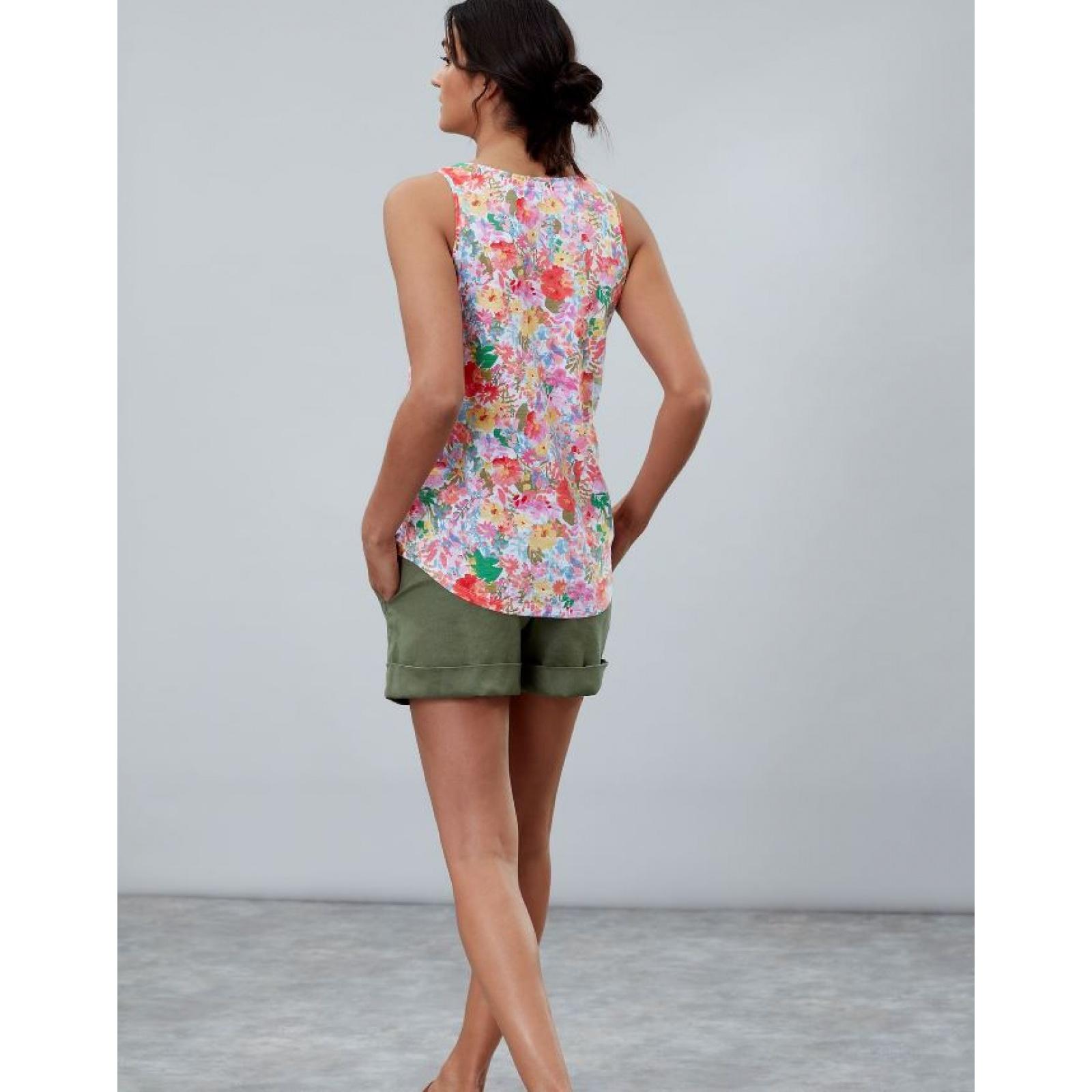 Joules-Bo-impresion-100-Algodon-Jersey-Chaleco-Top-Todos-Los-Colores miniatura 34