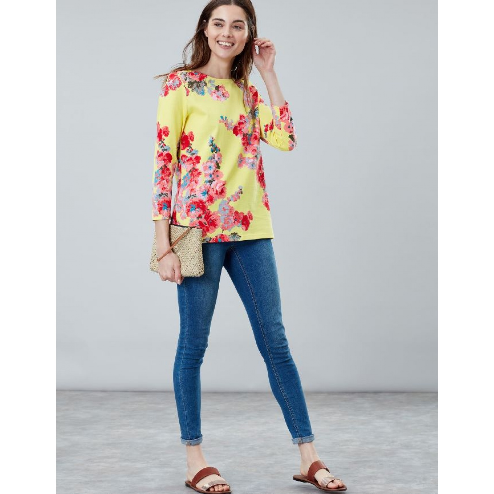 Joules-Harbour-Printed-3-4-Sleeve-Jersey-Top-SS19 thumbnail 46