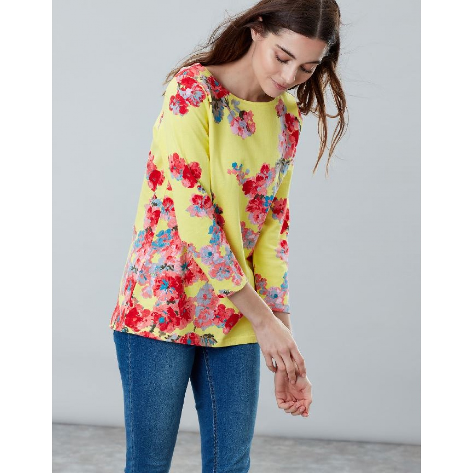 Joules-Harbour-Printed-3-4-Sleeve-Jersey-Top-SS19 thumbnail 50