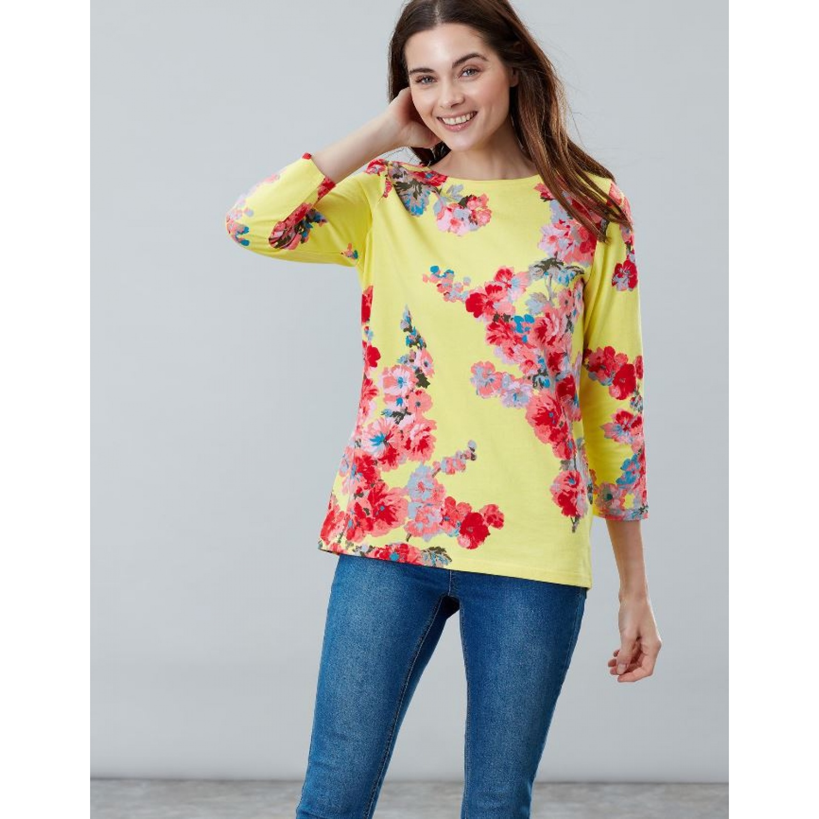 Joules-Harbour-Printed-3-4-Sleeve-Jersey-Top-SS19 thumbnail 52