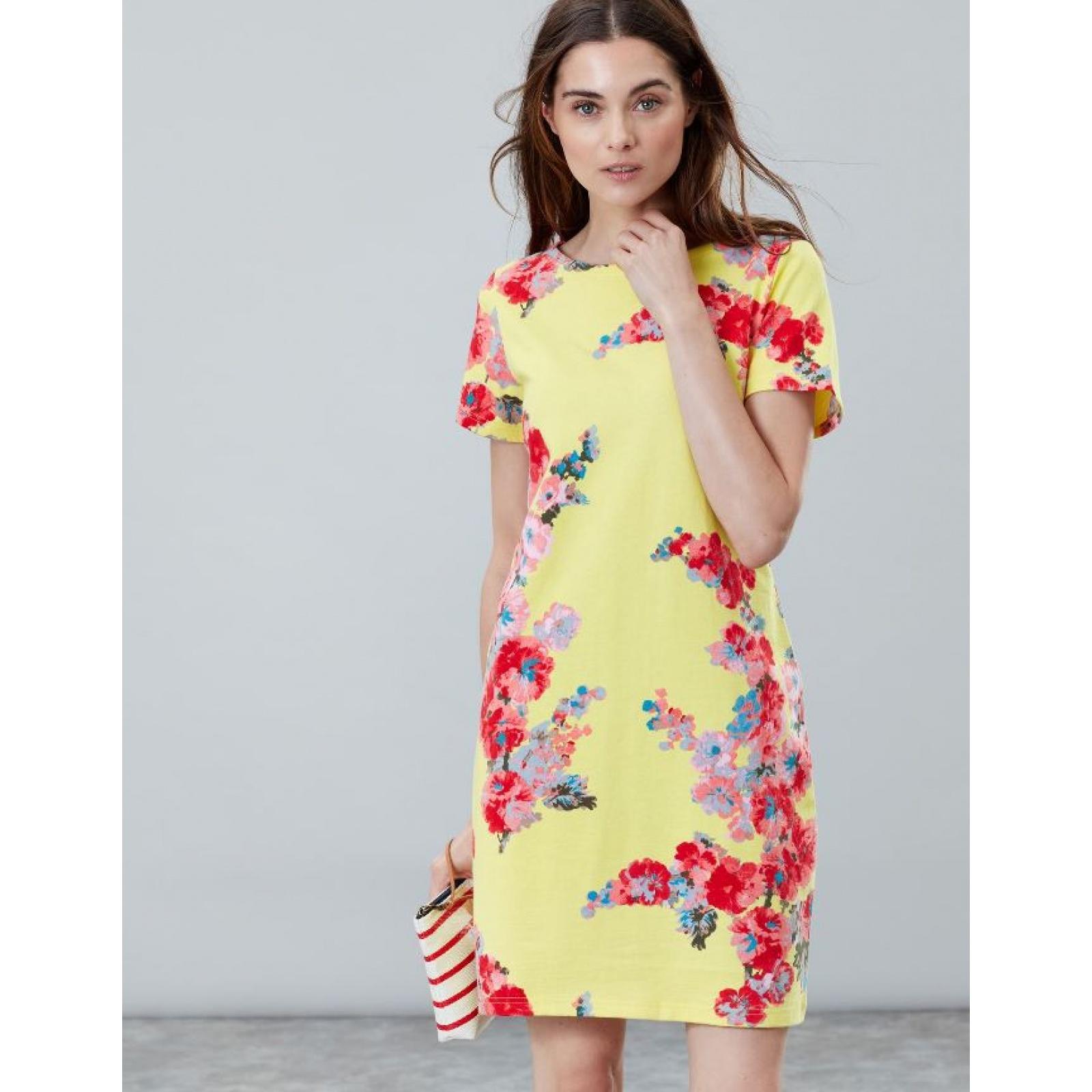 Joules-Riviera-Print-T-Shirt-Dress-with-Short-Sleeves-SS19 thumbnail 13