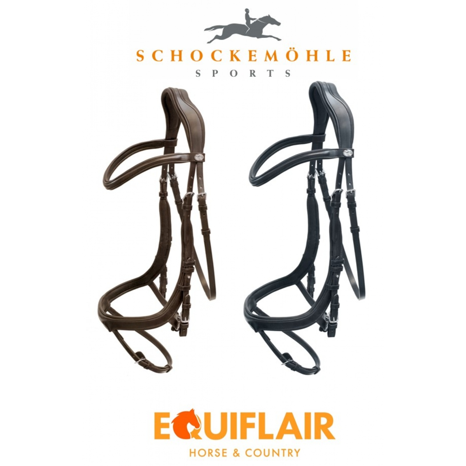 Schockemohle-Equitus-Alpha-Padded-Flash-Bridle miniature 6