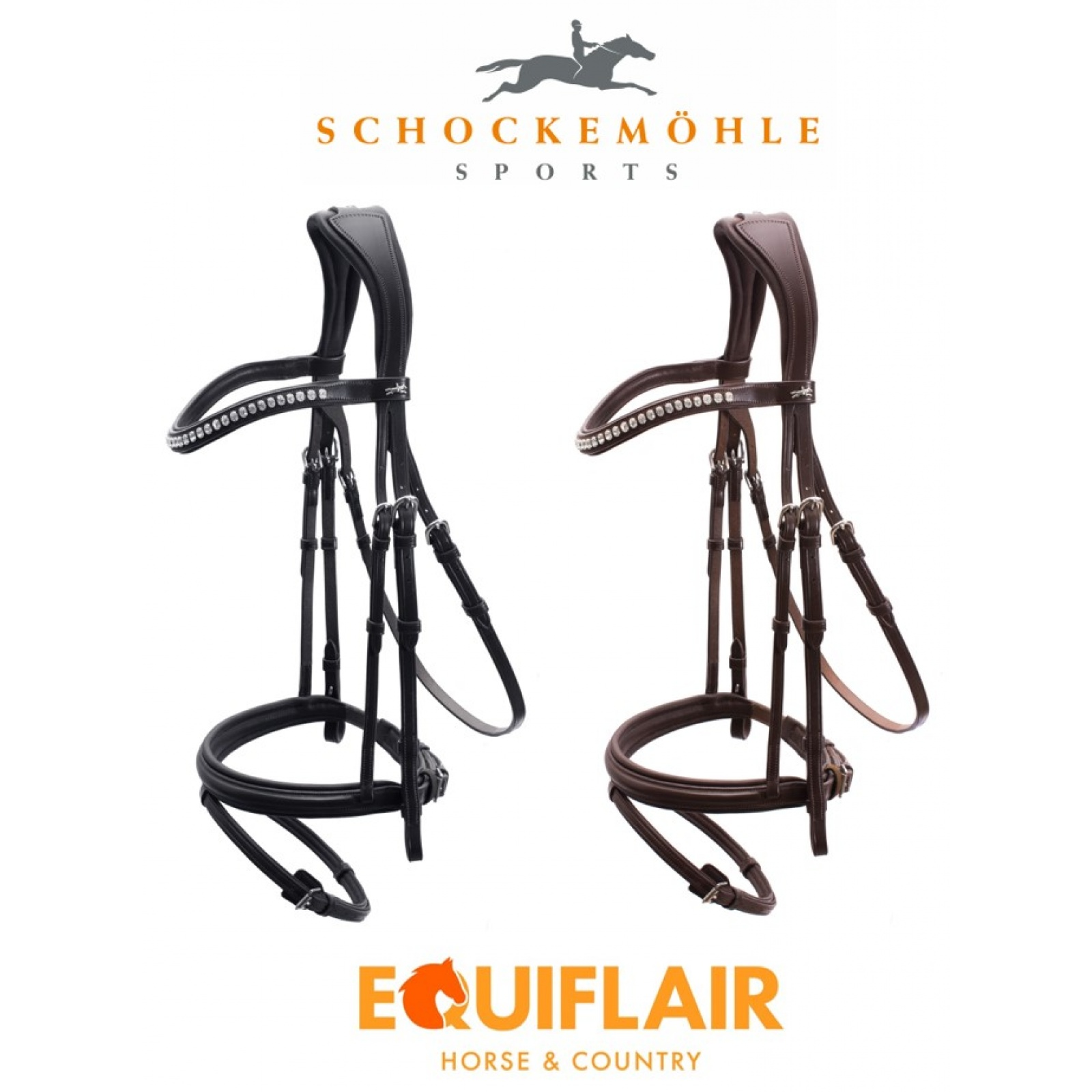 Schockemohle-Rome-Select-Padded-Flash-Bridle miniature 8