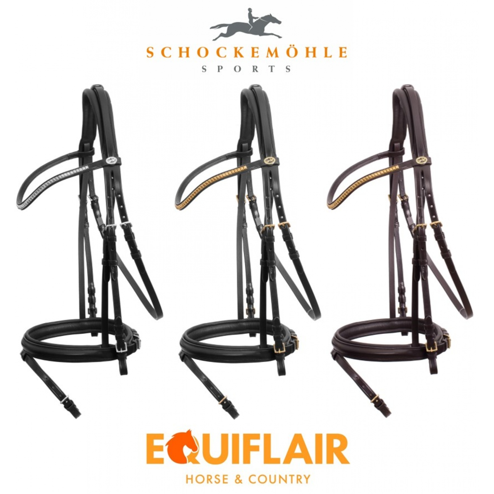 Schockemohle-Colombo-Classic-Line-Flash-Bridle miniature 5