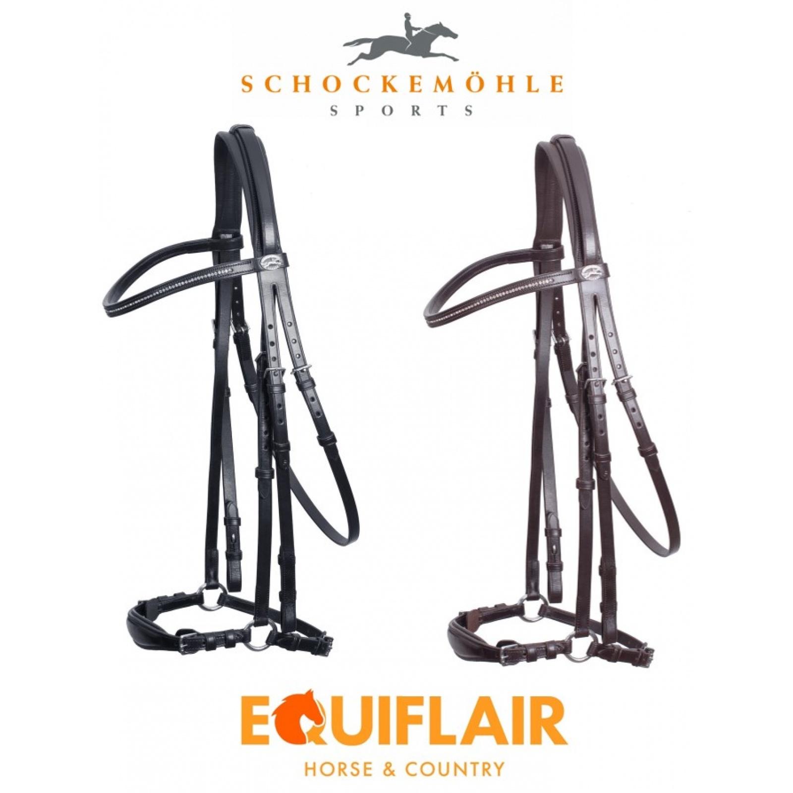 Schockemohle-Copenhagen-Classic-Line-Drop-Noseband-Bridle miniature 7