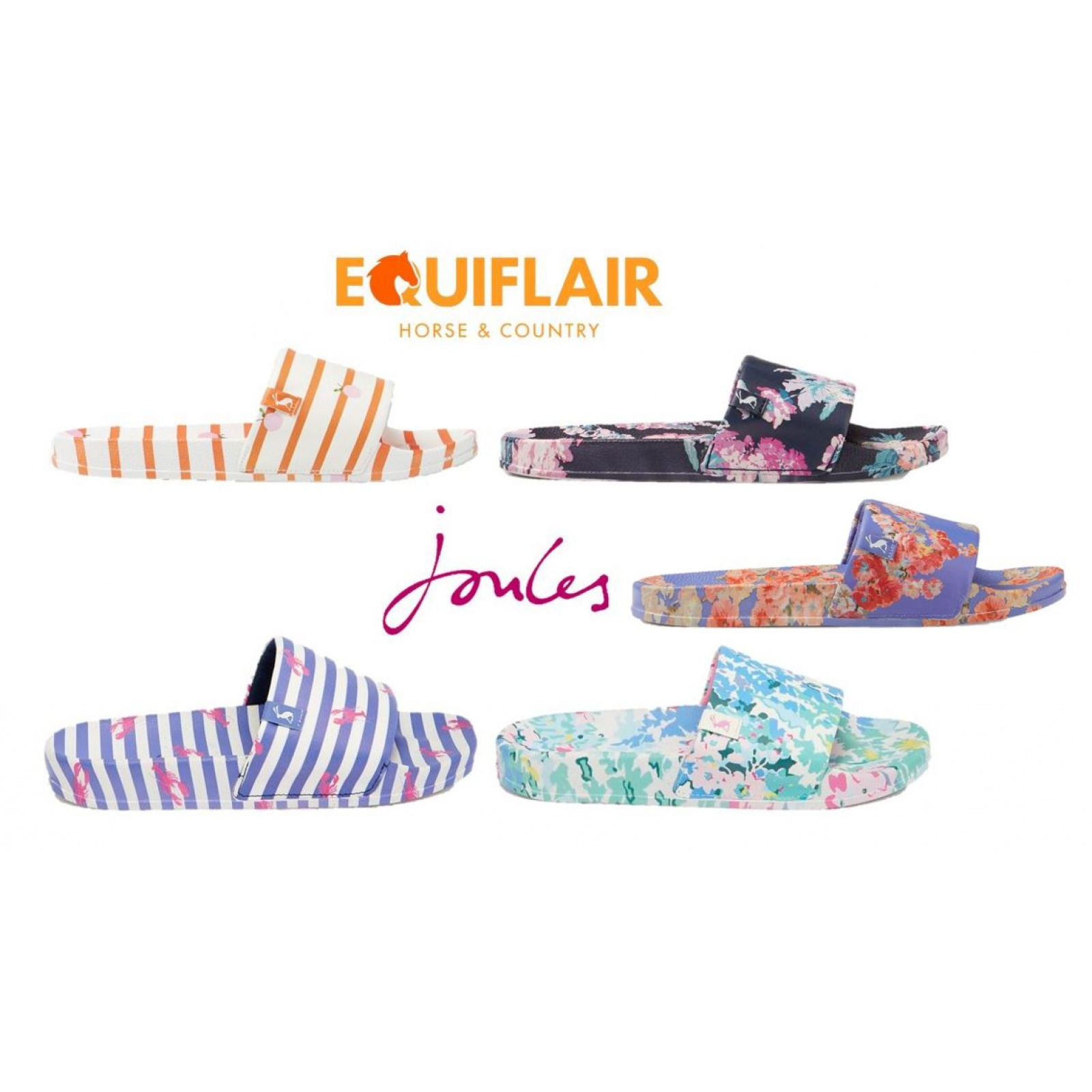 Joules-Poolside-PU-Sliders-Beach-Holiday-Shoes-SS19 miniature 5