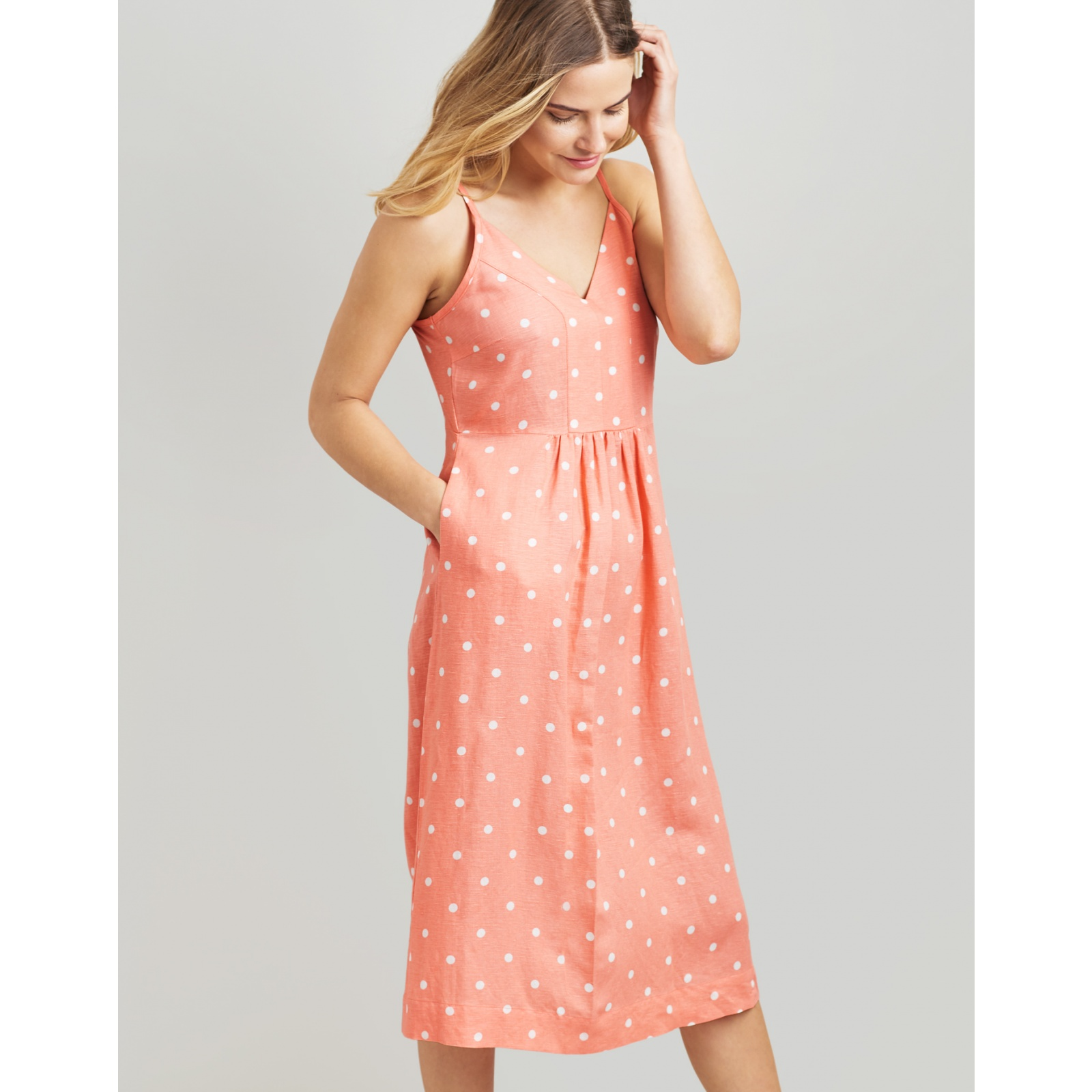 Joules-Zoey-V-Neck-Strappy-Dress-MORE-COLOURS miniature 20