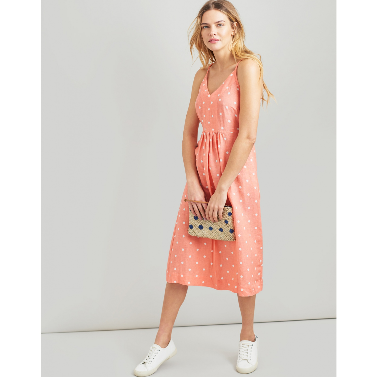 Joules-Zoey-V-Neck-Strappy-Dress-MORE-COLOURS miniature 22