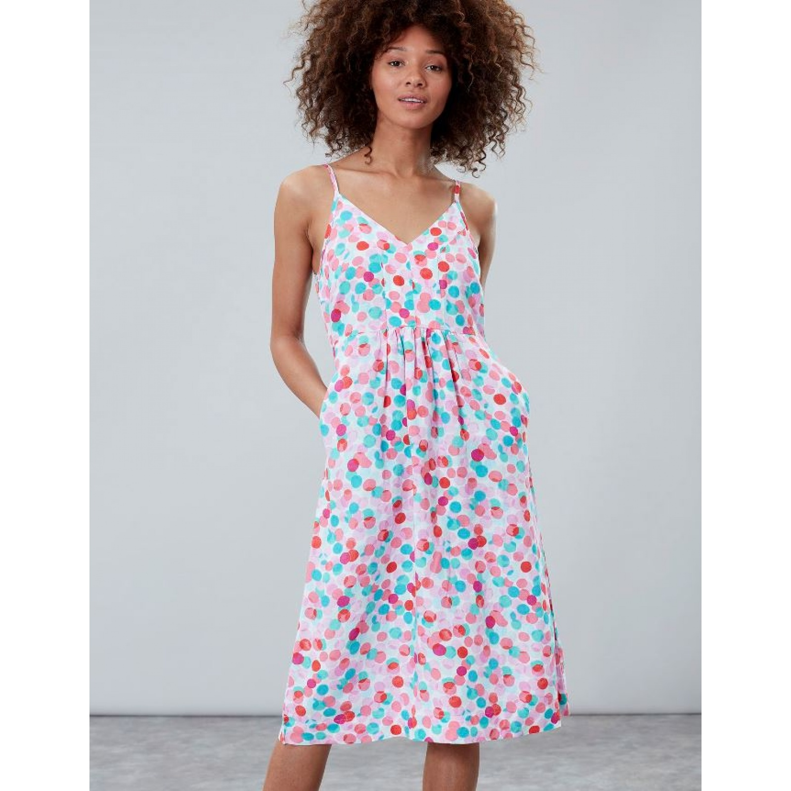Joules-Zoey-V-Neck-Strappy-Dress-MORE-COLOURS miniature 9